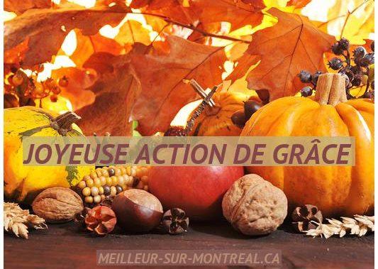 Joyeuse Action de Grâce Montréal